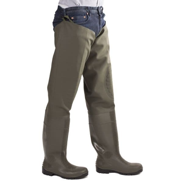 Amblers Safety Forth Thigh Safety Wader Waders Green